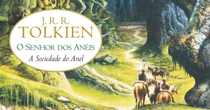 Imagem da capa do livro O Senhor dos anéis A sociedade do anel de Tolkien Destaque