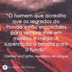Livro Meridiano Sangue Cormac McCarthy Frase