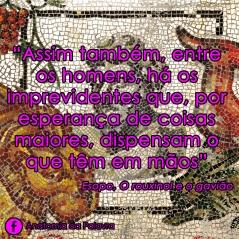 Citação fábula O rouxinol e o gavião, Esopo, livro da Martin Claret