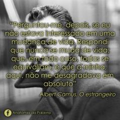 Citação livro O estrangeiro, Albert Camus, filosofia