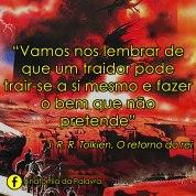 Citação do livro O Retorno do Rei, Tolkien