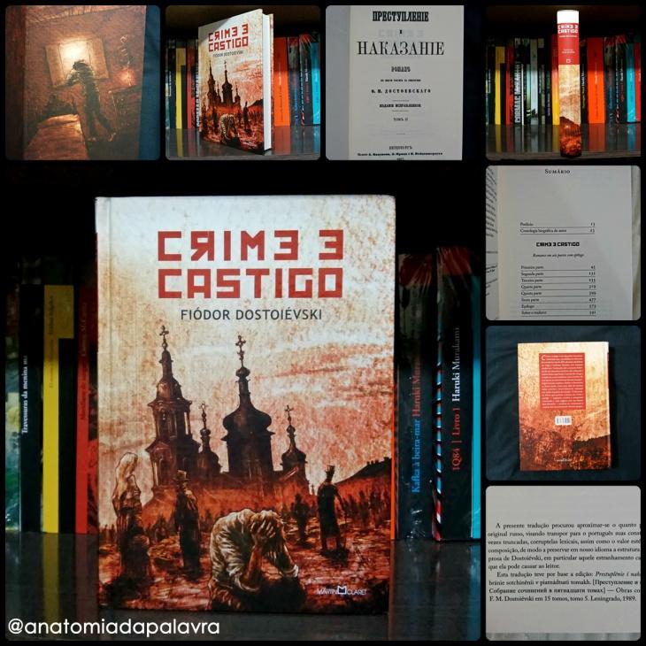 Livro Crime e Castigo, Fiódor Dostoiévski, editora Martin Claret