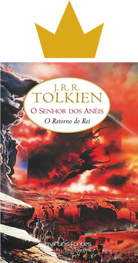 Capa do livro O retorno do rei, Tolkien, Martins Fontes
