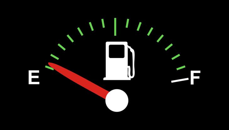 Marcador de combustível vazio