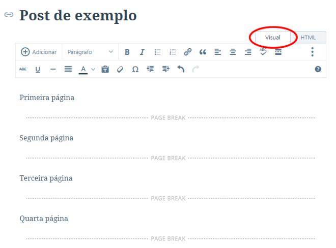 Wordpress quebra de página page break