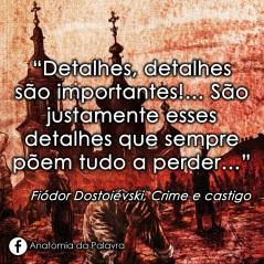 Frase Crime e castigo Fiódor Dostoiévski