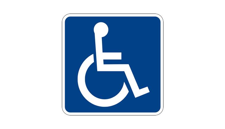 Placa pessoa com deficiência
