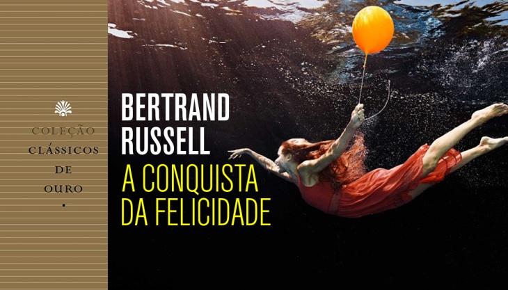 Capa do livro A conquista da felicidade, Bertrand Russell