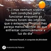 Citações Bertrand Russell, Frases, Felicidade