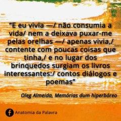 Frases Oleg Almeida, Memórias dum hiperbóreo
