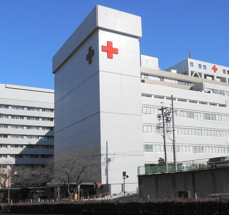 Hospital fachada cruz vermelha japão