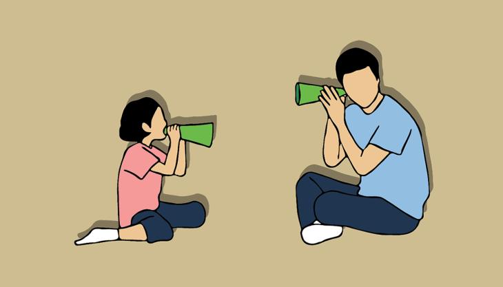 Treino de habilidades sociais Pai Filha conversando