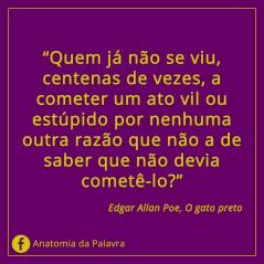Frases Edgar Allan Poe Gato preto