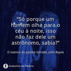 Citação John Boyne Pijama Listrado