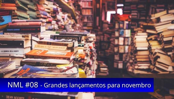Livraria notícias livros lançamentos novembro
