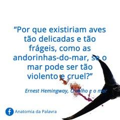 Frases Ernest Hemingway O velho e o Mar
