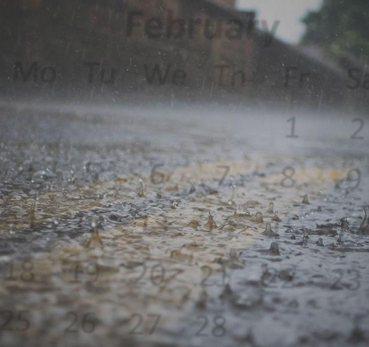 Rua coberta por água da chuva