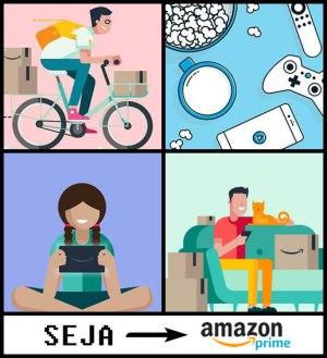Banner do serviço Amazon Prime e seus benefícios