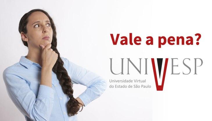 Vale a pena estudar na UNIVESP? Mulher pensando se vale a pena