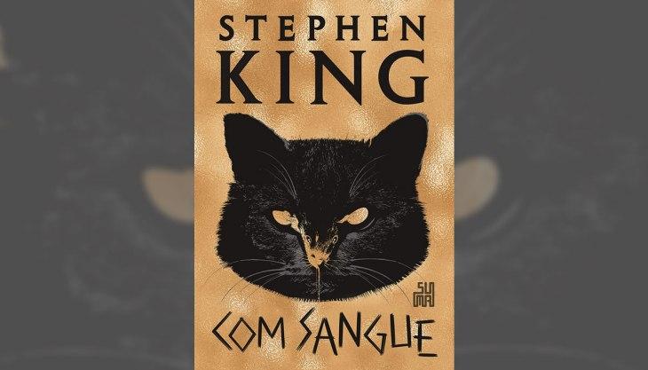 Capa do mais novo livro de Stephen King, Com Sangue