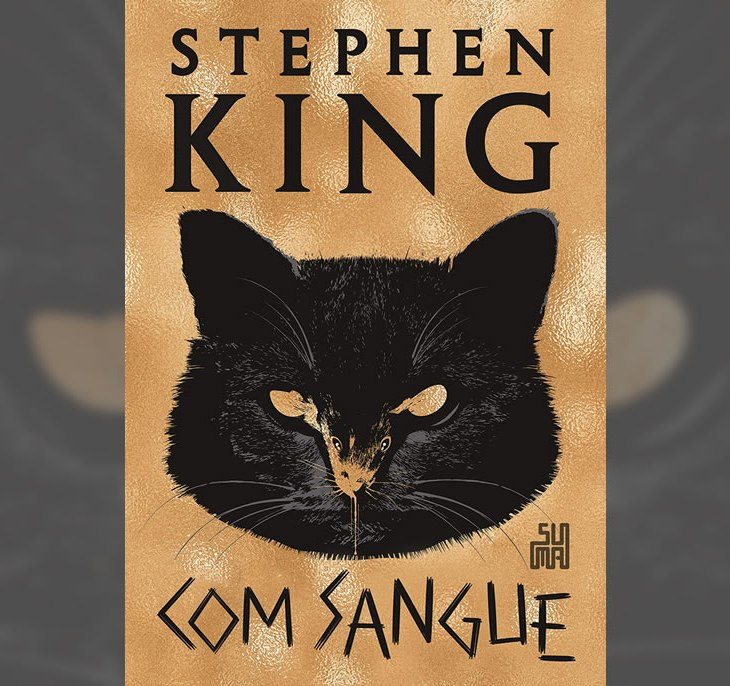 Capa do mais novo livro de Stephen King, Com Sangue