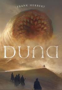 Capa do livro Duna, editora Aleph, arte de Marc Simonetti