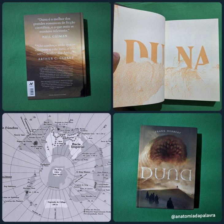Livro Duna publicado pela Editora Aleph em 2017, capa dura