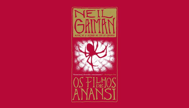 Capa do livro Os filhos de Anansi, de Neil Gaiman, editora Intrínseca