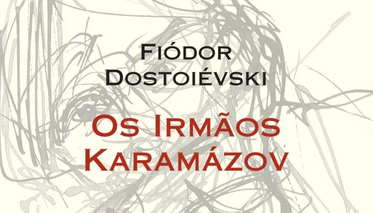 Capa do livro Os Irmãos Karamázov, Editora 34, tradução de Paulo Bezerra