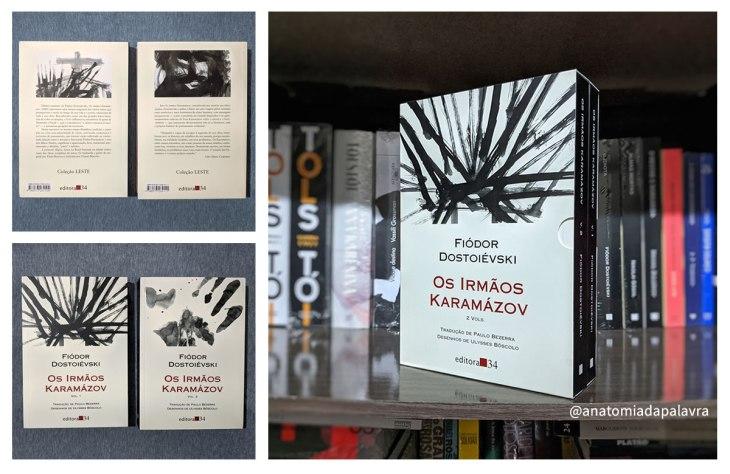 Os Irmãos Karamázov em dois volumes, pela Editora 34