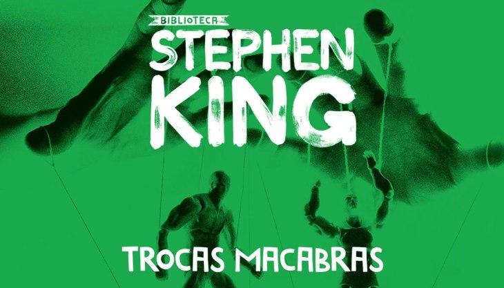 Análise do livro Trocas Macabras: capa da nova edição, toda verde, publicada pela Editora Suma