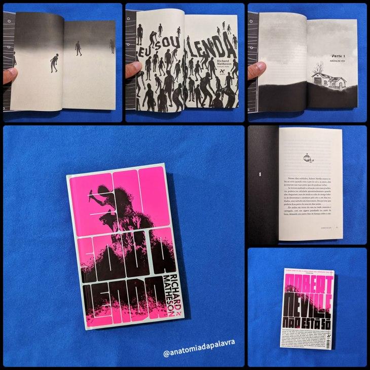 Eu Sou A Lenda pela Editora Aleph: detalhes da edição, em capa dura e ilustrada