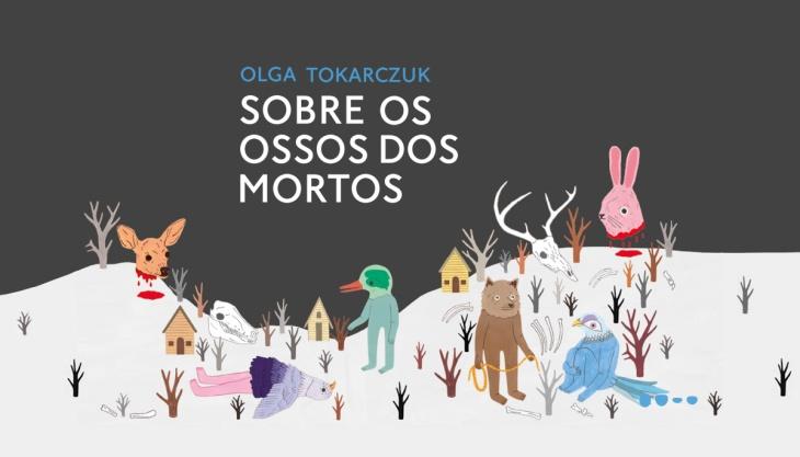 Análise de Sobre os ossos dos mortos: ilustração da capa do livro publicado pela Todavia em 2019