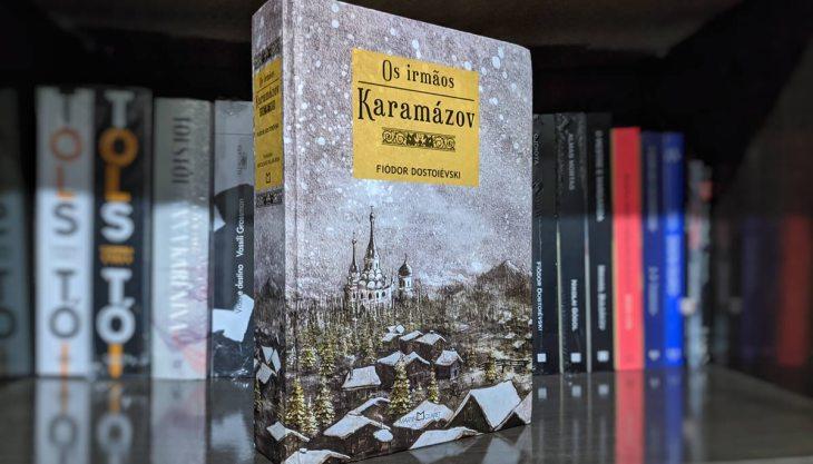 Edição da Martin Claret de Os Irmãos Karamázov, em capa dura