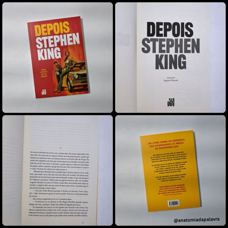 Análise do livro Depois, Stephen King: detalhes do livro, capa, contracapa, e primeiras páginas