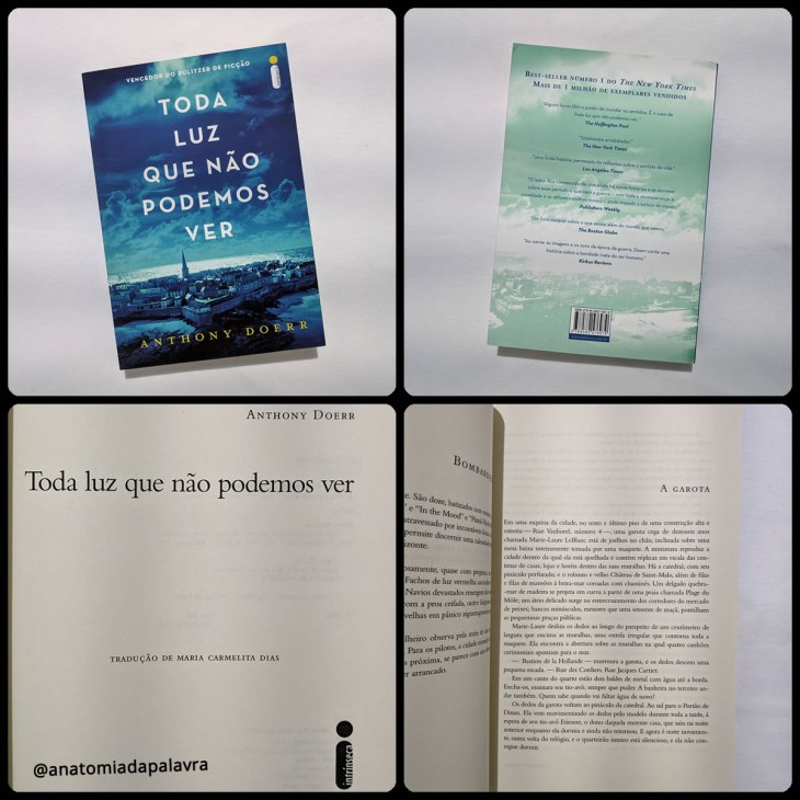 Detalhes do livro Toda Luz Que Não Podemos Ver, de Anthony Doerr, pela editora Intrínseca